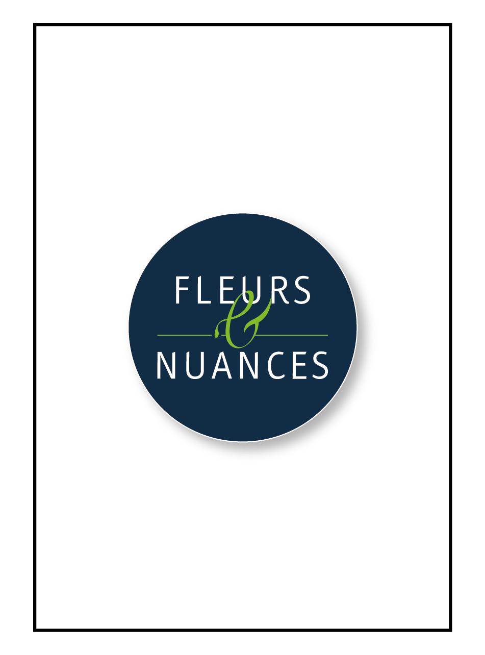Logo entreprise fleurs et nuances