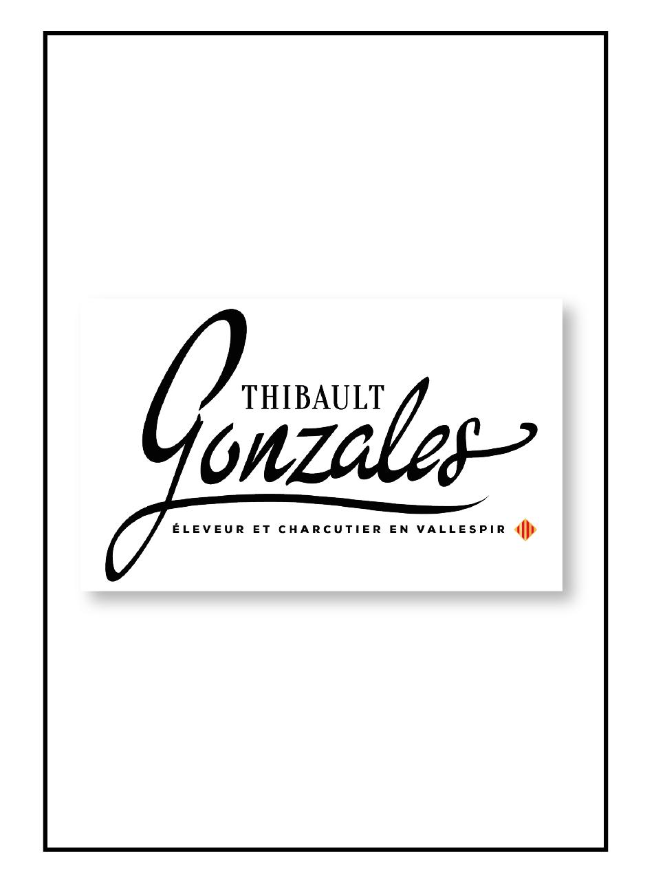 Logo pour le boucher charcutier Thibault Gonzales