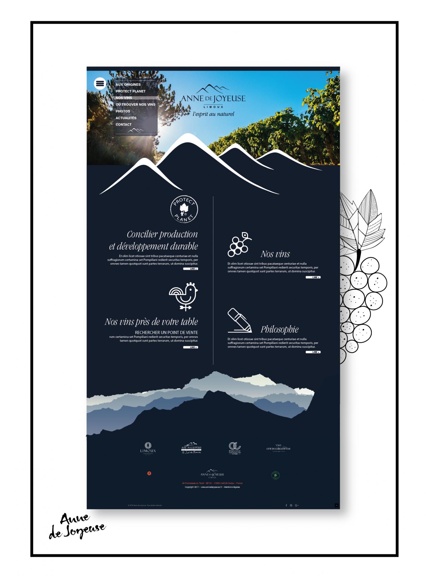 web design anne de joyeuse